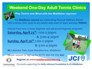 Weekend One-Day Adult Tennis Clinics